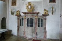 Foto: Beichtstuhl, St. Leonhard in Leonberg