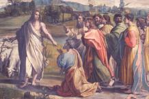 Jesus übergibt Petrus die Schlüssel zum Paradies