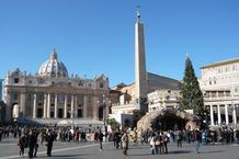 Petersdom mit Weihnachtsbaum